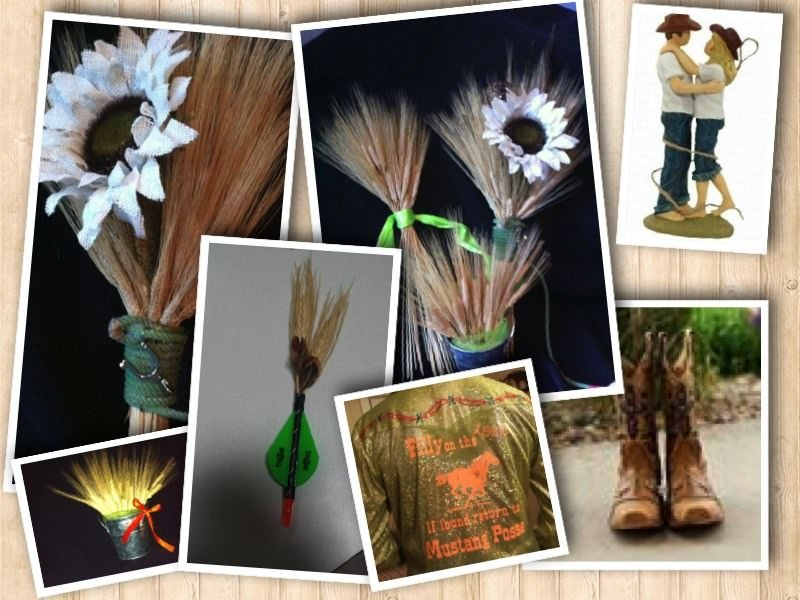 Bouquets, Country Western Wedding (Part 3) Boutonnières and a Bachelorette Party (Collage)