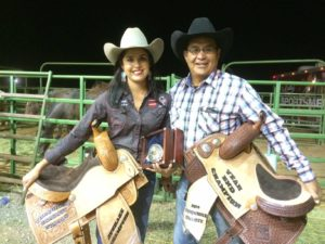 Kassidyat Dennison and her dad at the 2014 Turquoise Circuit Finals in Las Cruces, New Mexico