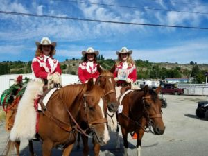 Walla Walla Frontier Days Royalty place 2nd in the 2016 Omak Parade