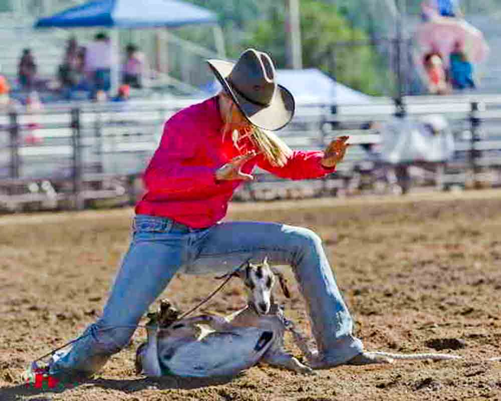 Goat Tying Youth Sport Dominated By Women Cowboy