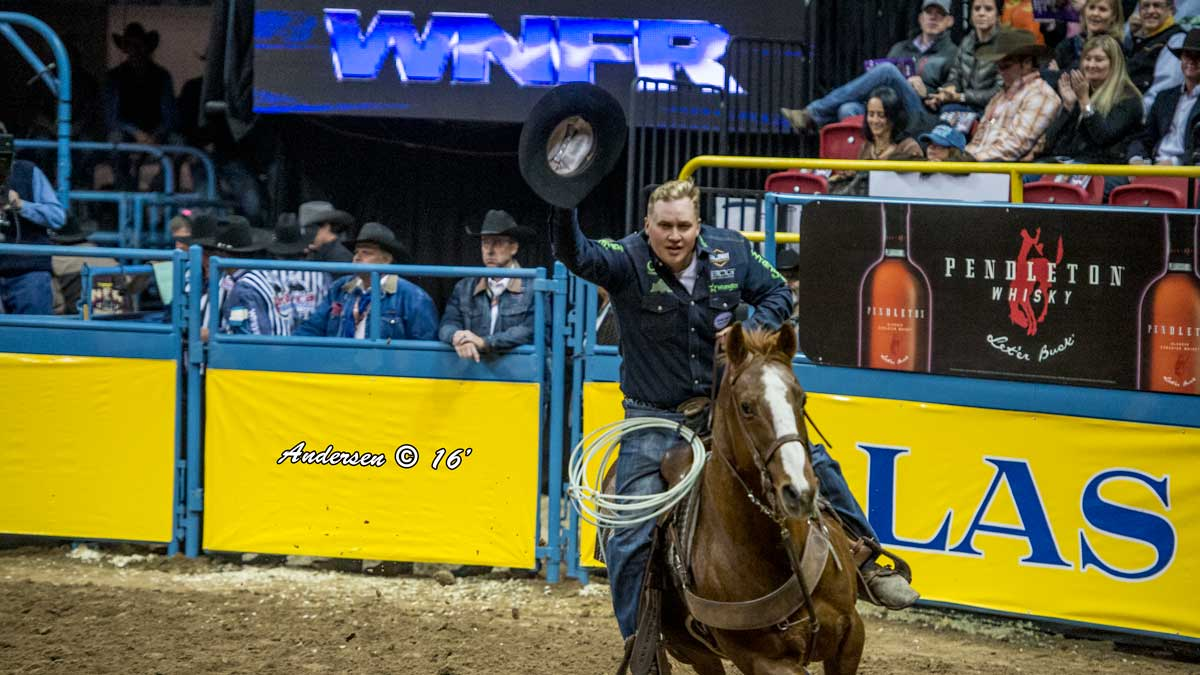Levi Simpson - Team Roping - NFR Rodeo 2016 Go-Round Winners: Day 1 in Las Vegas