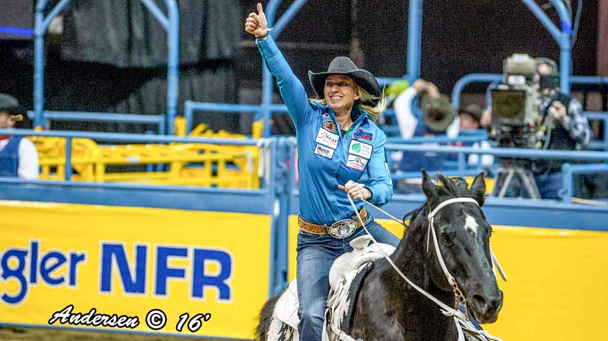 Amberleigh Moore (Starfish Shot) with a time of 13.37 during Round 8 of WNFR16