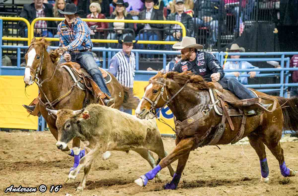 Clayton Hass with a time of 4.10 during Round 8 of the WNFR16