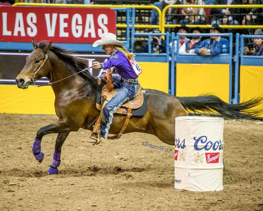 Pamela Capper - Barrel Racing - NFR Rodeo 2016 Go-Round Winners: Day 1 in Las Vegas