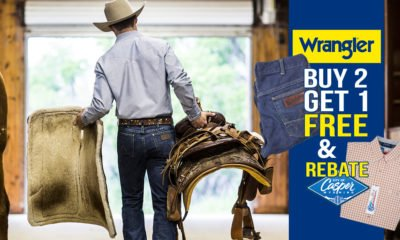 Wrangler Jeans Buy 2 Get 1 FREE & $10 Shirt Rebate For Casper Rodeo Fans!
