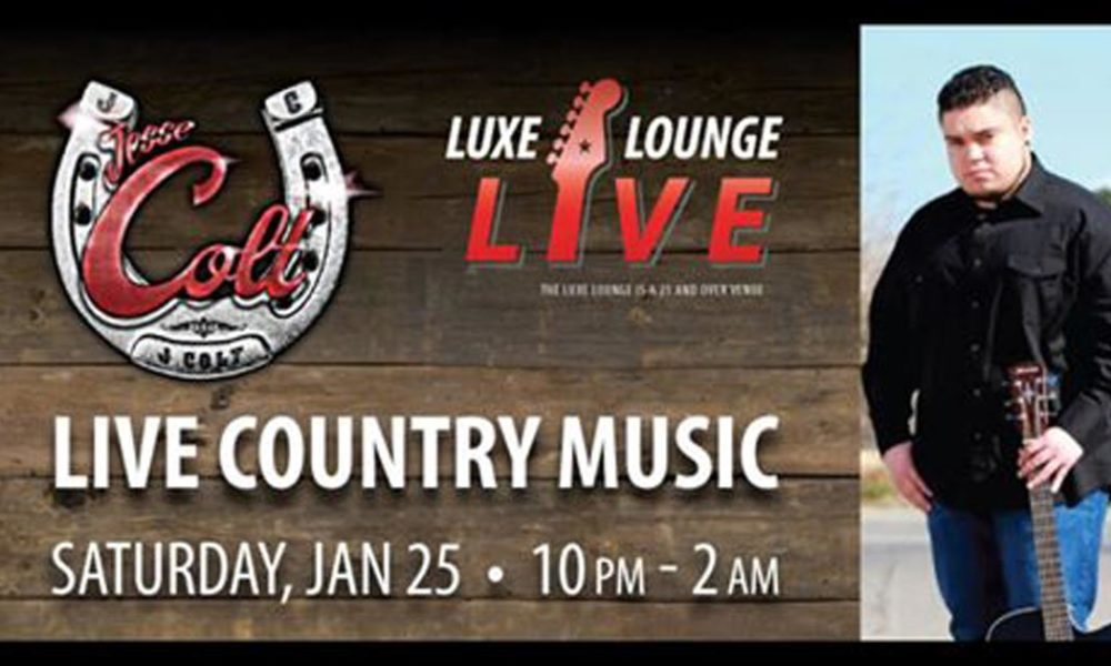 The Luxe Lounge, at UltraStar Multi-tainment Center at Ak-Chin Circle, hosts Jesse Colt Band on January 25th